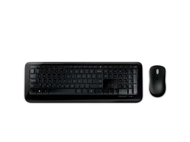 Teclado e Mouse Microsoft PY900021 Sem Fio Desktop 850 USB Preto