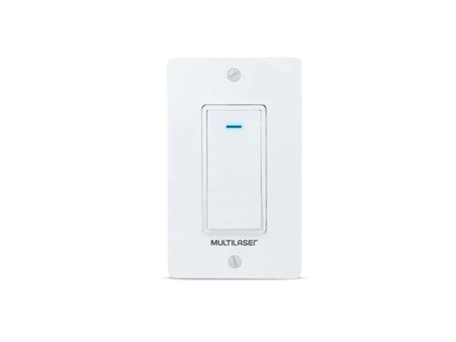 Interruptor Inteligente Multilaser Liv SE235 1 Tecla Wi-Fi