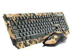 Combo Teclado e Mouse Warrior TC249 Kyler Gamer Army Camuflado