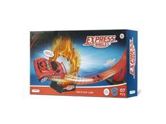 Pista de Corrida Multikids BR1020 Fast Express 1 Carrinho e 7 Peças