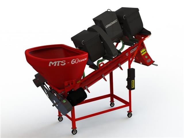 Máquina Grazmec Tratamento de Sementes MTS 60 Elétrica 2 Caixas LIQ/PÓ
