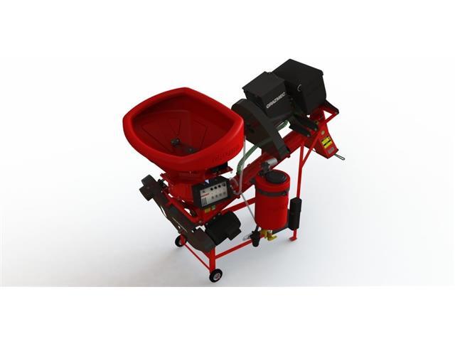 Máq Tratamento Semente Grazmec MTS 120 Spray System 2 Res+2CaixaLIQ/PÓ
