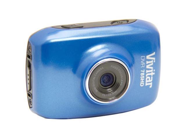 Câmera Vivitar Filmadora de Ação HD com Acessórios Azul