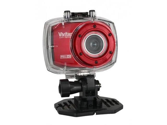 Câmera Vivitar de ação Full HD com Acessórios Vermelha