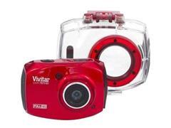 Câmera Vivitar de ação Full HD com Acessórios Vermelha - 1