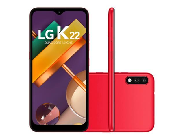 """Smartphone LG K22 4G 32GB Duos Tela 6.2"""" HD+ Câmera 13+2MP Vermelho"""