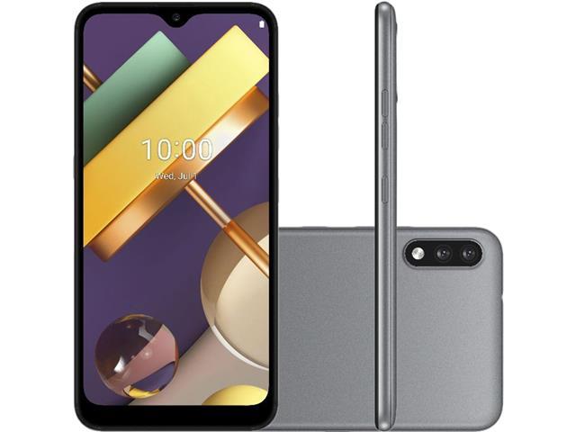"""Smartphone LG K22+ 4G 64GB Duos Tela 6.2"""" HD+ Câmera 13+2MP Cinza"""