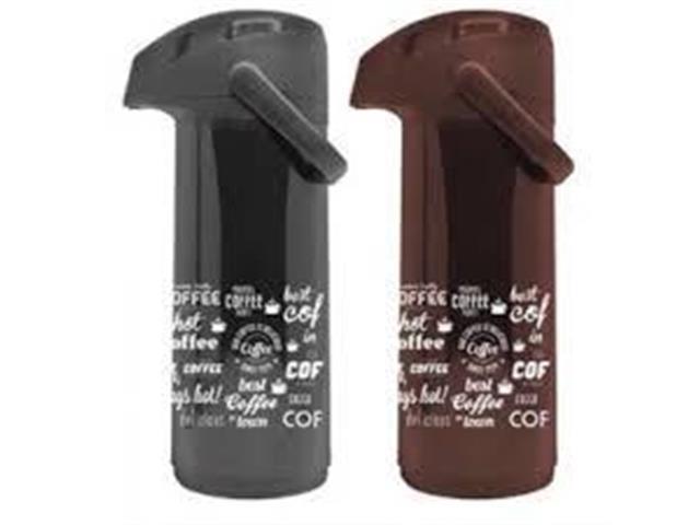 Garrafa Térmica Massima Best Coffee Cores Preto/Marrom 1 Litro