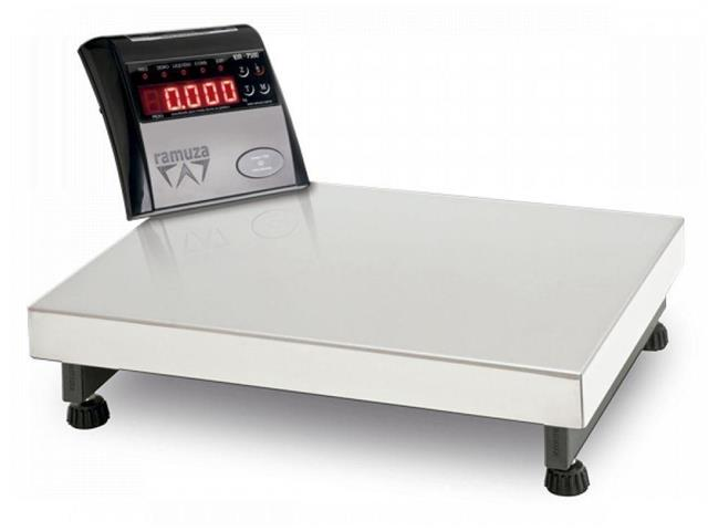 Balança Ramuza Industrial Aço Carbono Base 50x50cm Bivolt 300KG
