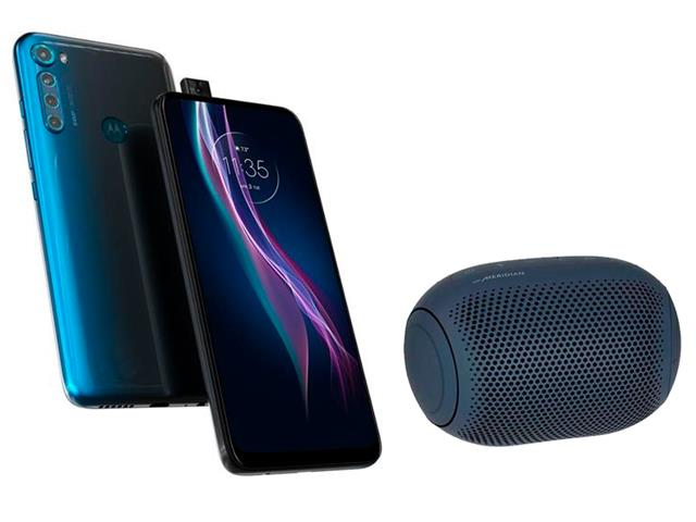 Kit Smartphone Motorola One Fusion+ 128GB e Caixa de Som LG XBoom PL22
