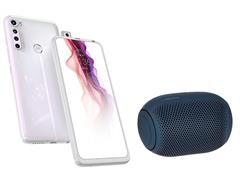 Kit Smartphone Motorola One Fusion+ 128GBe Caixa de Som LG XBoom PL22