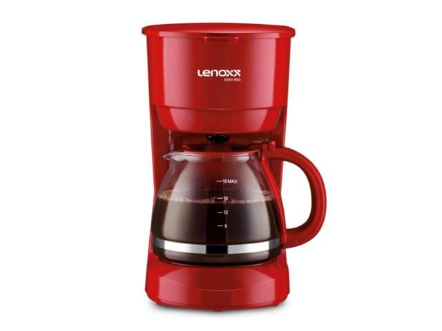 Cafeteira Elétrica Lenoxx Easy 18 Cafés Red