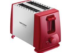 Torradeira Elétrica Lenoxx Inox Red