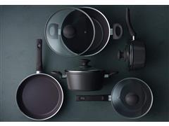 Conjunto de Panelas Brinox Ceramic Life Optima Camurça 5 Peças - 2