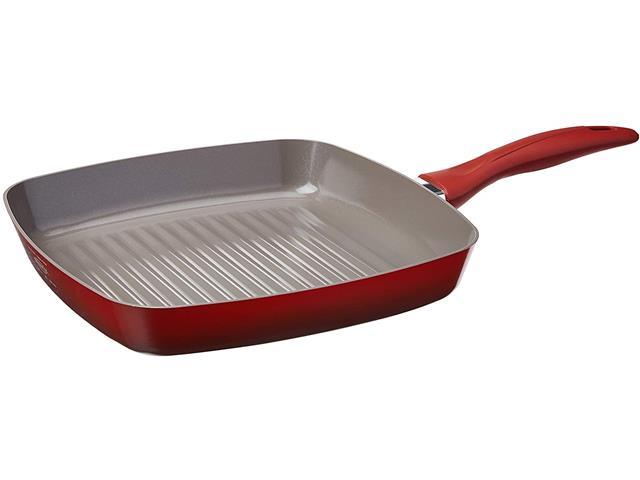Frigideira Grill Brinox Ceramic Life Smart Plus Vermelha