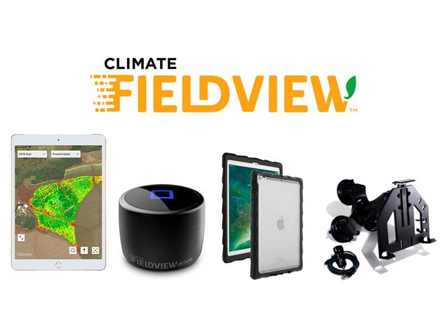 Kit Tablet Ipad 7+Fixação+Capa proteção Ipad+Climate FieldView Drive