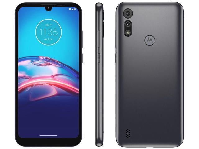 """Smartphone Motorola Moto E6S 32GB Duos Tela 6.1"""" 4G Câm 13+2MP Cinza"""