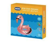 Boia Inflável Mor Cisne Rosa Perolado Rosa com Abertura - 2
