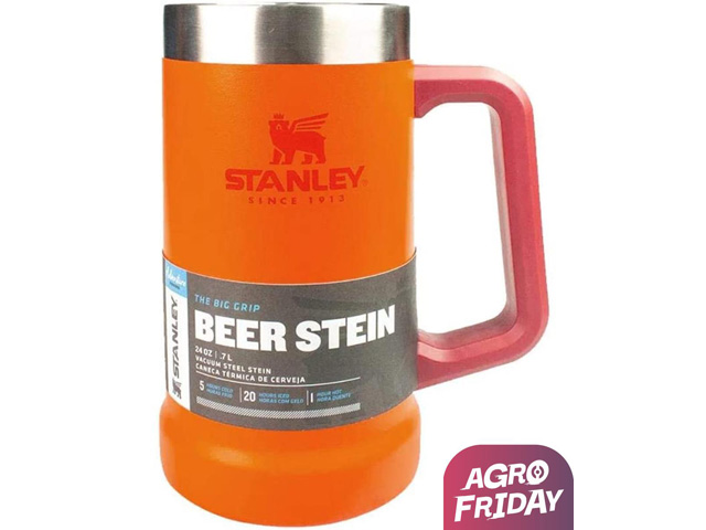 Caneca Térmica de Cerveja Stanley Inox Laranja 709ML