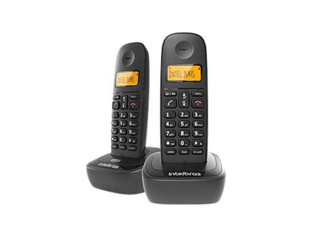 Combo Telefone sem Fio Intelbras com Ramal TS 2512 Preto
