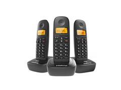Combo Telefone sem Fio com 2 Ramais Adicionais Intelbras TS 2513 Preto - 0