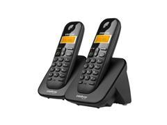 Combo Telefone sem Fio Digital com Ramal Intelbras TS 3112 Preto