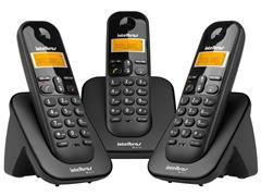 Combo Telefone Sem Fio Intelbras TS 3113 com 2 Ramais Preto - 2