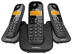 Combo Telefone Sem Fio Intelbras TS 3113 com 2 Ramais Preto - 1
