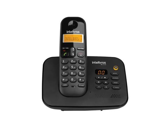 Telefone sem Fio Digital Secretária Eletrônica Intelbras TS 3130 Preto