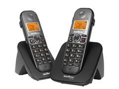Combo Telefone sem Fio com Ramal Intelbras TS 5122 Preto - 1