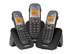Combo Telefone Sem Fio Intelbras TS 5123 com 2 Ramais Preto - 1