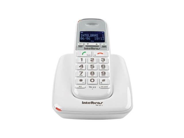 Telefone sem Fio Intelbras TS 63 V Branco