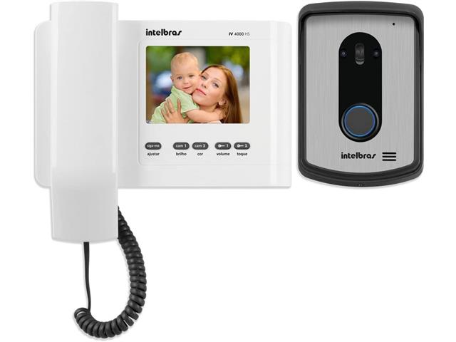 Video Porteiro Intelbras IV 4010 HS com Display Branco