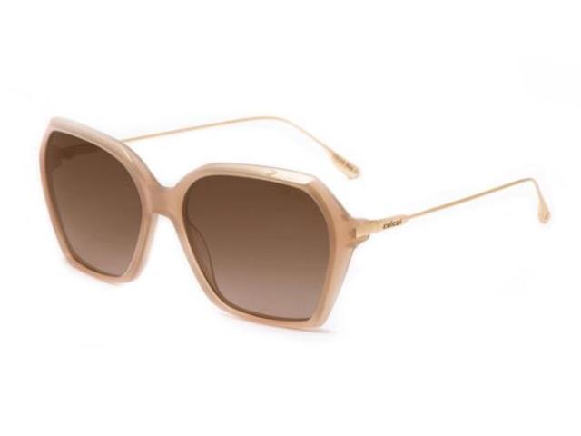 Óculos de Sol Colcci C0159 Nude Translúcido Lente Marrom Degradê