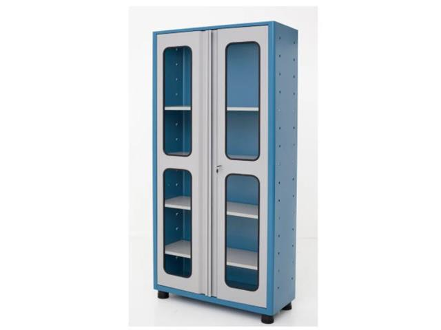 Armário Compacto Marcon 4 Prateleira Reguláveis Portas de Vidro
