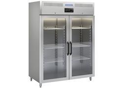 Congelador Freezer Tramontina Profissional Inox 2 Portas de Vidro 220V