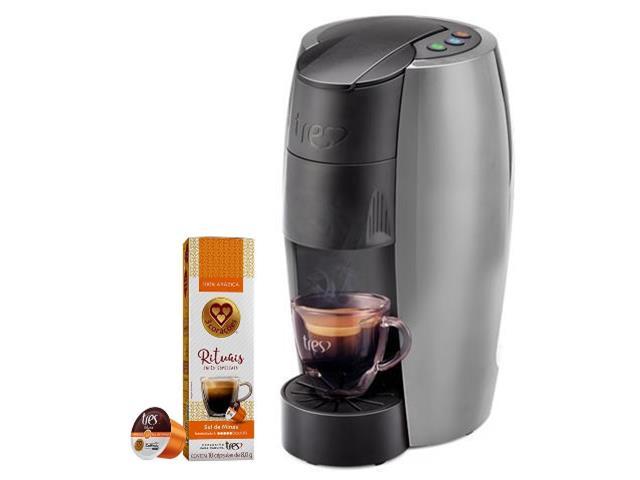 Cafeteira Lov Prata Semi Fosco 110v + 80 Cáps Rituais Sul de Minas