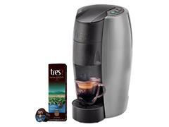 Cafeteira Lov Prata Semi Fosco 110v + 80 Cáps Espresso Safra Especial