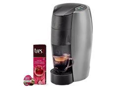 Cafeteira Lov Prata Semi Fosco 220v + 80 Cáps Chá de Hibisco e Maçã