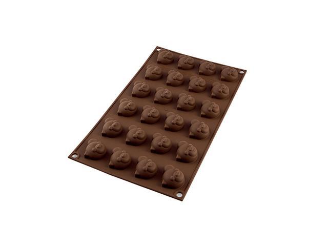 Forma de Silicone Silikomart Chocopanda para Chocolate