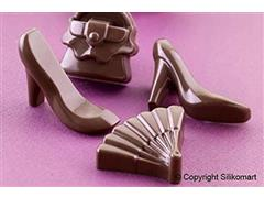 Forma de Silicone para Chocolates Silikomart Fashion Marrom - 4