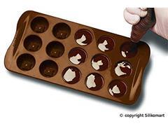 Forma de Silicone para Chocolates Silikomart Fashion Marrom - 1