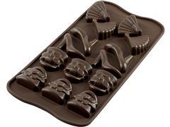 Forma de Silicone para Chocolates Silikomart Fashion Marrom