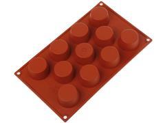 Forma de Silicone Silikomart para Mini Muffin Vermelha