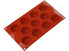 Forma de Silicone Silikomart para Mini Muffin Vermelha - 1