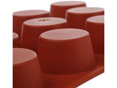 Forma de Silicone Silikomart para Mini Muffin Vermelha - 2