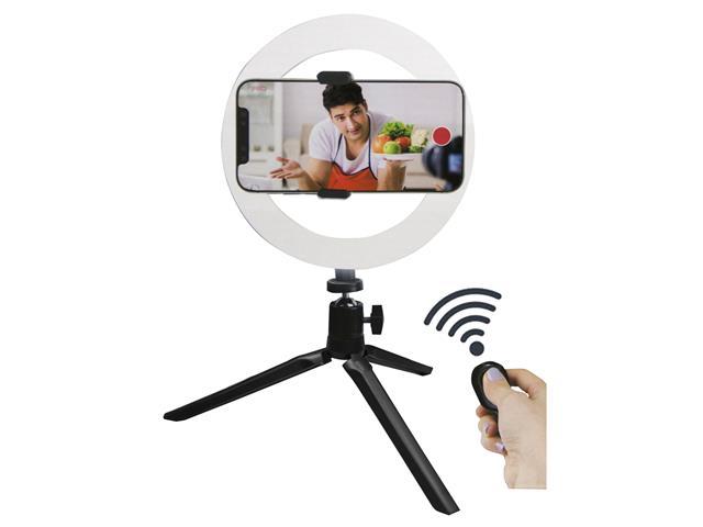 Suporte para Smartphone Vivitar Ring Light com Controle e Powerbank