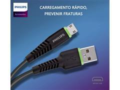 Kit Philips Carregador Super Rápido Qc3.0 + Cabo Micro USB - 3