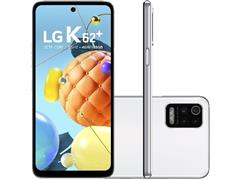 "Smartphone LG K62+ 4G 128GB Dual 6,59""HD+ IA QuadCâm 48+5+2+2MP Branco"