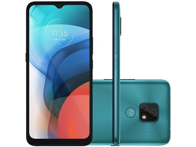 """Smartphone Motorola Moto E7 32GB Duos Tela 6.5"""" 4G Câm 48+2MP Azul"""